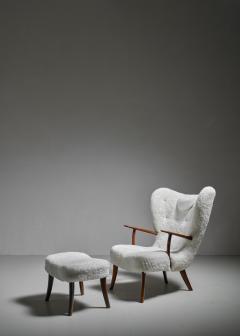 Madsen Sch bel Madsen and Sch bel Pragh Lounge Chair with Ottoman Denmark 1950s - 1047826