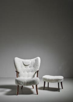 Madsen Sch bel Madsen and Sch bel Pragh Lounge Chair with Ottoman Denmark 1950s - 1047827