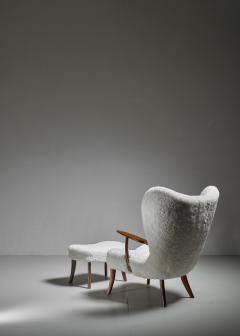 Madsen Sch bel Madsen and Sch bel Pragh Lounge Chair with Ottoman Denmark 1950s - 1047829