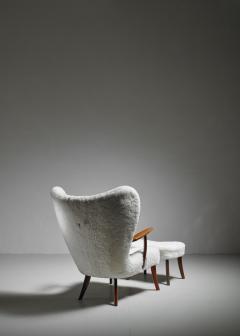 Madsen Sch bel Madsen and Sch bel Pragh Lounge Chair with Ottoman Denmark 1950s - 1047830