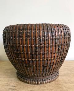 Maeda Chikubosai I Japanese Woven Bamboo Brazier by Maeda Chikubosai I - 1430505