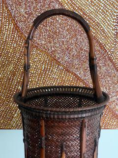 Maeda Chikubosai I Large Japanese Bamboo Ikebana Basket Maeda Chikubosai I - 1161994