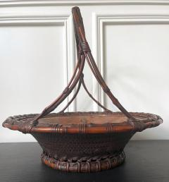 Maeda Chikubosai I Large Japanese Woven Bamboo Morikago Basket by Maeda Chikubosai I - 2002781