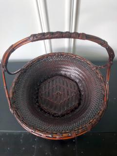 Maeda Chikubosai I Large Japanese Woven Bamboo Morikago Basket by Maeda Chikubosai I - 2002785