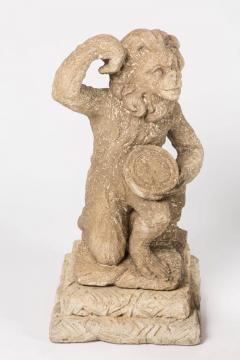 Magical Carved Stone Monkey band from the Palm Springs Estate of Jack Warner - 251151