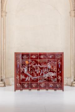 Magnificent Art Deco Laquered Screen Double Sided - 994891