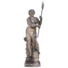 Magnificent Italian Fontaine Sculpture of God Neptune - 1507976