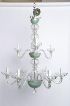 Magnificent Two Tiered Hand Blown Italian Murano Chandlier - 1776469