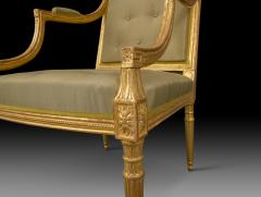 Magnificent and Stylish Pair of George III Giltwood Armchairs - 2059337