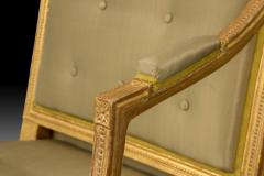 Magnificent and Stylish Pair of George III Giltwood Armchairs - 2059339