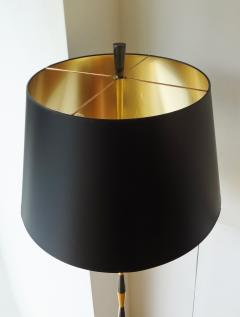 Maison Arlus Black and gilt brass floor lamp by Maison Arlus 1960s  - 959966