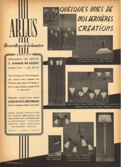 Maison Arlus Documented mid century Maison Arlus floor lamp - 847711