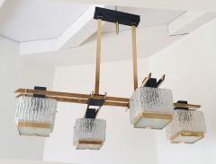 Maison Arlus Geometric Mid Century Modern chandelier by Maison Arlus circa 1950s - 935702