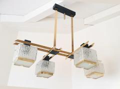Maison Arlus Geometric Mid Century Modern chandelier by Maison Arlus circa 1950s - 935704