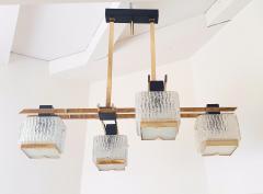 Maison Arlus Geometric Mid Century Modern chandelier by Maison Arlus circa 1950s - 935707