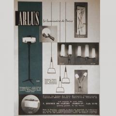 Maison Arlus LAMPPOST MAISON ARLUS 1950  - 1889017