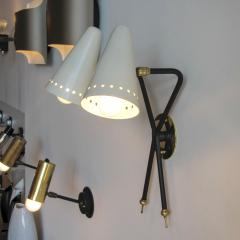Maison Arlus Rare French Double Arm Wall Light by Arlus - 682205