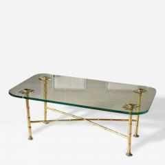 Maison Bagu s A Fine Maison Bagues Brass and Glass Low Table - 84813