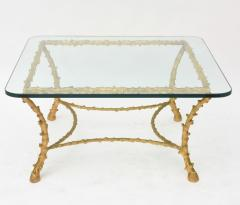 Maison Bagu s French Modern Gilt Bronze Low Table Attributed to Maison Bagu s - 61067