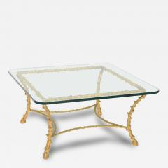 Maison Bagu s French Modern Gilt Bronze Low Table Attributed to Maison Bagu s - 63832