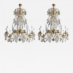 Maison Bagu s L 93 Important Pair of Crystal Chandeliers by Maison Bagu s - 259954