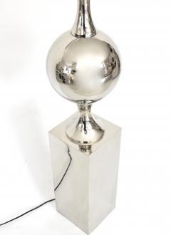 Maison Barbier Maison Barbier French Polished Nickel Chrome Steel Sculptural Floor Lamp - 1039871