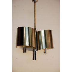 Maison Charles Chic French 1970s Polished Chrome Ribbon Chandelier by Maison Charles - 1080776