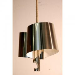 Maison Charles Chic French 1970s Polished Chrome Ribbon Chandelier by Maison Charles - 1080777