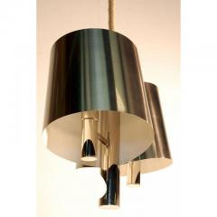 Maison Charles Chic French 1970s Polished Chrome Ribbon Chandelier by Maison Charles - 1080778