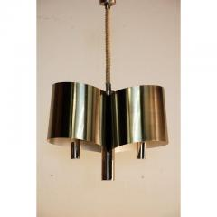Maison Charles Chic French 1970s Polished Chrome Ribbon Chandelier by Maison Charles - 1080781