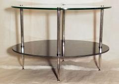 Maison Charles Glass and Vitrolite Maison Charles Neo Classic Coffee Table 1960s  - 1816903