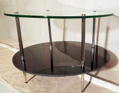 Maison Charles Glass and Vitrolite Maison Charles Neo Classic Coffee Table 1960s  - 1816908