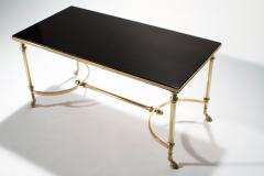 Maison Charles Neoclassical Maison Charles brass and lacquer coffee table 1960s - 985831