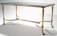 Maison Charles Neoclassical Maison Charles brass and lacquer coffee table 1960s - 985832