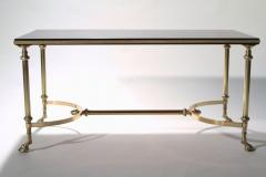 Maison Charles Neoclassical Maison Charles brass and lacquer coffee table 1960s - 985834