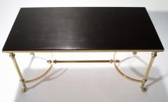 Maison Charles Neoclassical Maison Charles brass and lacquer coffee table 1960s - 985838