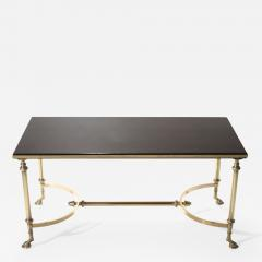 Maison Charles Neoclassical Maison Charles brass and lacquer coffee table 1960s - 988070