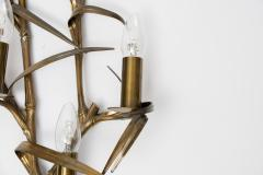 Maison Charles Pair Of bronze Bamboo sconces By maison Charles - 1721660