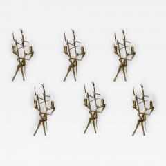 Maison Charles Pair Of bronze Bamboo sconces By maison Charles - 1722268