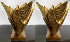 Maison Charles Pair of Bronze Lamps Milos by Maison Charles France 1970s - 1164488