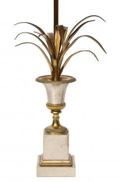 Maison Charles Pair of Steel and Brass Palm Lamps - 2011311
