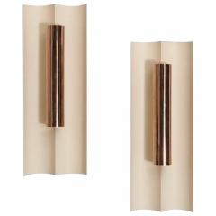 Maison Charles Pair of modernist painted metal sconces in the style of Maison Charles - 1569068