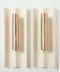 Maison Charles Pair of modernist painted metal sconces in the style of Maison Charles - 1569101