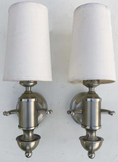 Maison Charles Signed Pair of Silver Maison Charles Sconces  - 973158