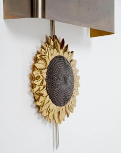 Maison Charles Sun Flower Bronze Wall Sconce by Maison Charles - 727221