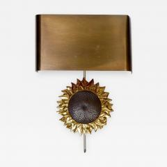 Maison Charles Sun Flower Bronze Wall Sconce by Maison Charles - 727656