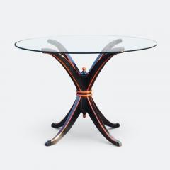 Maison Hirsch Black and Orange Lacquered Table circa 1960 - 2061923
