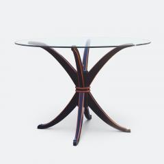 Maison Hirsch Black and Orange Lacquered Table circa 1960 - 2061924