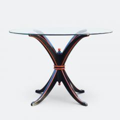 Maison Hirsch Black and Orange Lacquered Table circa 1960 - 2061926