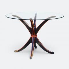 Maison Hirsch Black and Orange Lacquered Table circa 1960 - 2061927